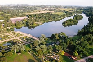 Trentham Lake from the air